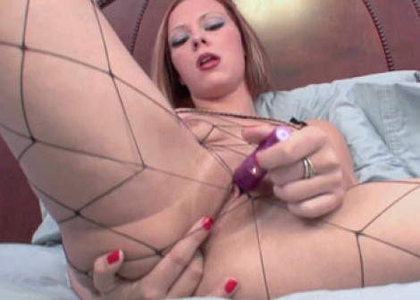 Penelope Sky teases her wet pussy